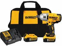 """Dewalt DCF897P2 20 Volt Max 3/4"""" Drive Impact Wrench Kit"""