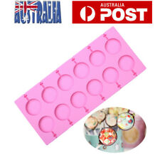 Silicone Lollipop Mold Candy Chocolate Molds Cake Decorating Mold +Sucker Sticks