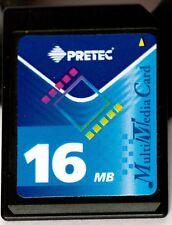 Pretec 16MB multimedia card.