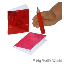 Notebooks Pencil Set - School Accessories Fit American Girl - For 18 Inch Doll