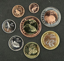 Amazonia Animal  Coins Set of 8 Pieces 2012 UNC