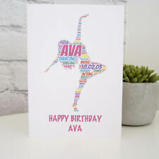 Personalised Dancer Birthday Card