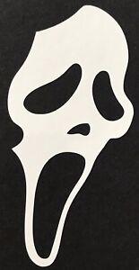 "Scream Ghost Face 4.5""x2.5"" Die-Cut Vinyl Decal sticker Horror Wes Craven"