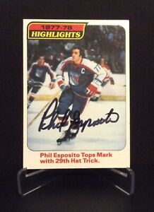 PHIL ESPOSITO AUTOGRAPHED CARD