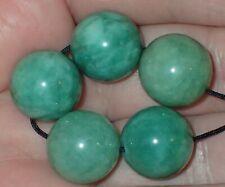 5 Rare Green Apple Indo - Tibetan, Tibet Jade beads, 14mm, #S2603