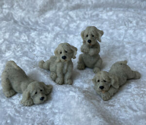 Quarry Critters Puppies...Dog Figurines..BN
