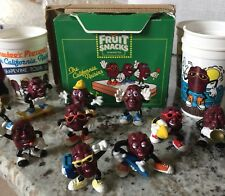 California Raisins Figures Delmonte Bread Band + Boombox skater guitar 19pc.