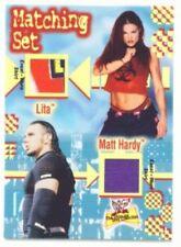 """LITA & MATT HARDY """"4 COLOR EVENT WORN CARD"""" ULTIMATE DIVA!!!"""