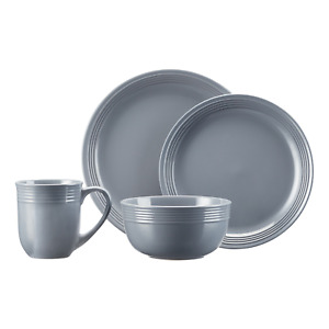 Mainstays Chiara 16-Piece Gray Dinnerware Set