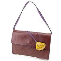 miumiu Shoulder bag Brown Purple Woman Authentic Used T2315