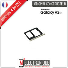 Trappe / Support Gold Carte SIM / Micro SD Original Samsung Galaxy A3 2016