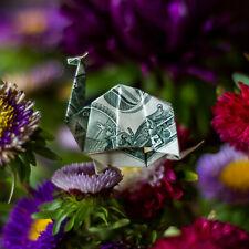 Money Dollar Origami Winged DRAGON Figurine Real $1 Bill Statue Decor Figure