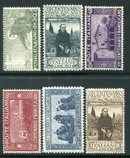 1926 Regno San Francesco serie di 6 valori nuovi integri e centrati ** MNH