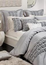New PRIVATE COLLECTION CAMILLE SILVER KING Quilt Doona Duvet Cover Set RRP $260!