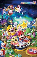 SUPER MARIO ~ 9 PARTY MUSHROOM KINGDOM 22x34 Video Game Poster Brothers Nintendo