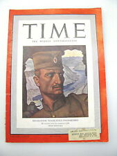 TIME MAGAZINE MAY 25 1942 MIHAILOVICH OF YUGOSLAVIA BALKANS GANDHI TEXAS A&M