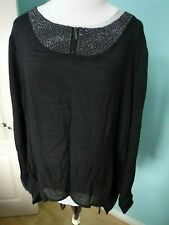 Fransa black top blouse size XL 16 NEW