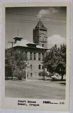 OLD VINTAGE RPPC COURT HOUSE BAKER CITY OREGON TOWN TOWER CLOCK HOLMAN POSTCARD