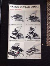 ORIGINALE Polaroid manuale d'uso Manual per/for sx-70 English