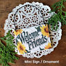DECO Mini Door Knob Hanger WELCOME SIGN cottage style shabby chic Sunflower USA