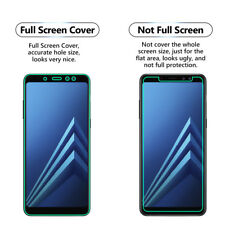 2x FULL SCREEN Face Curved TPU Screen Protector Cover For Samsung Galaxy A8 2018