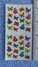 Sandylion BUTTERFLY MICRO PRISM Strip of 2 Sq Sticker RETIRED OUT OF PRINT