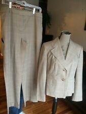 New (Others) Women's Ann Taylor LOFT Tan Plaid Jacket/Pant Suit Size 10