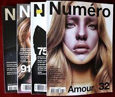 Lot of 4 Numéro Fashion Magazines ~ Isabeli Fontana Natalia Vodianova