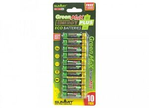 10x AA BATTERIES BATTERY 10 pack GREEN MAX ENERGY PLUS 1.5v