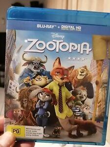 Disney ZOOTOPIA blu RAY, as new , fast postage
