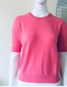 100% Cashmere Jumper Short Sleeve T Shirt Soft Pink Vast Land Warm  Size M BNWT