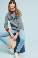 Sol Angeles x Anthropologie Au Revoir Graphic Sweatshirt top sz MD