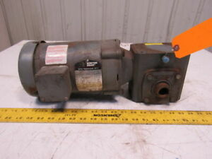 """Boston Gear 34K29-872 10:1 Ratio 5Hp 208-230/460V 3Ph 1"""" Thru Shaft Gear Motor"""