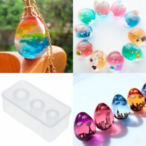 Silicone Mold Egg Molds Epoxy Resin Crafts DIY Jewelry Making Home Ornaments