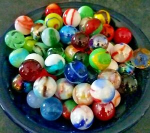 51 Vintage Marbles Collectors Mix + Mammoth Shooter - Incudes MK Vacor Jabo etc.