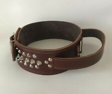 """REAL LEATHER/HEAVY DUTY DOG COLLAR - HANDLE/QUICK CONTROL FOR TRAINING/2.5"""""""
