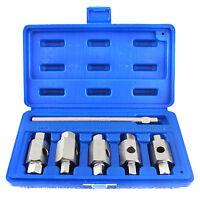 Drain Sump Plug Key Tools For Engines Axles Gear Box Car Repair Oil Change 5pc