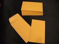 "100 heavy 28 lb Quality Park Kraft Coin Envelopes 3-1/8""x5-1/2"" (3.125""x5.5"")"