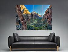 Landscape Mountain Landscape Mountain Nature Wall Art Poster A0 Wide Print