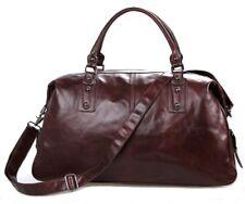 Leather travel bags-Weekend bags-Overnight bags-Duffel-Dark Coffee