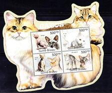 Guine Bi. MNH Odd Shape SS, Cats, Esfinge, Mau egipcio, Domestic animals