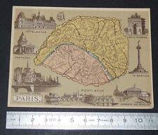 CHROMO BON-POINT HACHETTE 1885 FRANCE PARIS BASTILLE PANTHEON NOTRE-DAME