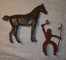 "1950s Payton Indian Rider and 5"" Hard Plastic Horse"