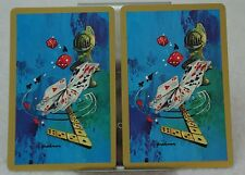 Single Swap Playing Cards. Vintage Game Pieces Decor Haakman Artist. MCM (2)
