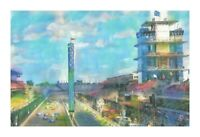 """PRINT Indianapolis Motor Speedway Indy 500 Race Fan Car Art Painting Poster 19"""""""