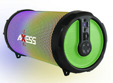 """Axess Disco LED HiFi 2.1 Bluetooth with 3"""" Subwoofer Speaker (Green) SPBL1044GN"""