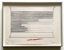 Donald Judd 1973 Signed Numbered Print Ltd. Edition Framed MOMA Retrospective