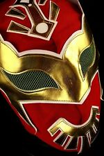 SIN CARA RED Adult Mask Mexican Wrestling Mask Lucha Libre Luchador Costu