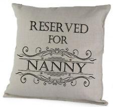 Reserved For Nanny Cushion, Cute Pillow Birthday Christmas Gift Keepsake