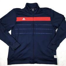 ADIDAS Rugby #albleus Track Jacket Men's 2XL NAVY/ RED #ab16